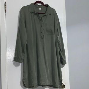 Green Thin Denim Dress
